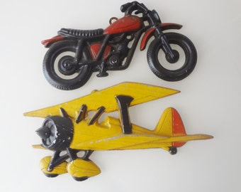 Vintage wall decor,, vintage airplane, wall art vintage, USA made toys,vintage flying machines,