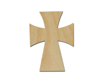 """Unfinished Wood Cross Wooden Craft Crosses Cut Out Stainable Paintable part C115-125    15"""" inch"""