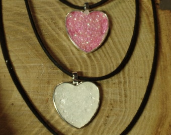 Heart Shaped Crystal Creation Necklace, Be my Valentine