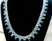 Wedding Jewelry for Brides - Crystal Bead Weaving Jewelry - Right Angle Weave Bead Weaving Necklace - Crystal Bead Jewelry Necklace