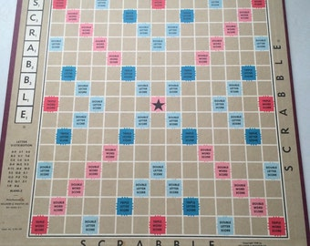 Vintage Scrabble Board Game room wall art