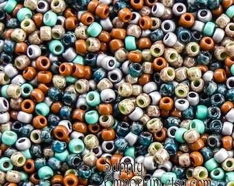 Size 8/0 Toho Seed Bead Mix - 15 grams - Comfy Cords Seed Bead Mix - 1776 - Exclusive 8/0 Toho Seed Bead Mix