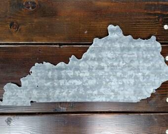State of Kentucky barn tin sign wall art