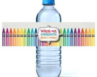 Graduation Water Bottle Labels - Graduation Water Labels - Custom Water Labels - Kindergarten Graduation - Preschool Graduation