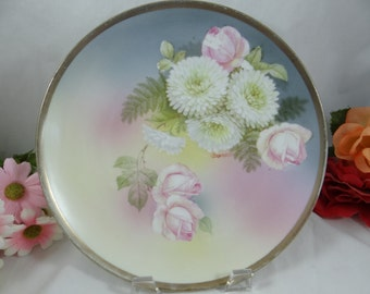 "1898 Antique Vintage O.&.E.G. Royal Austria Hand Painted Artist Signed ""Raymond"" Decorative Plate"