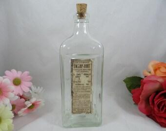Vintage Antique Dr Kilmer's Swamp Root Bottle with Original Label - Great Condition