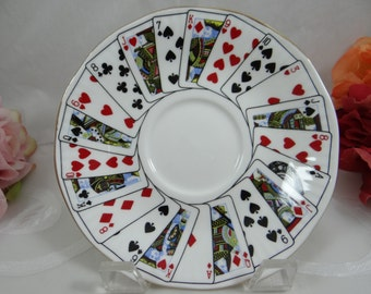 """Vintage English Queens China Elizabethan """"Cut for Coffee""""  Saucer"""