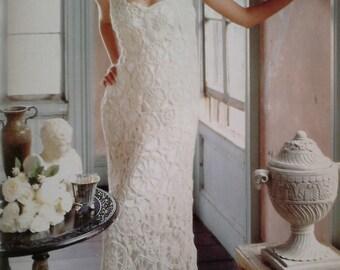 Vintage Crochet Wedding Dress Pattern Pdf No 0002