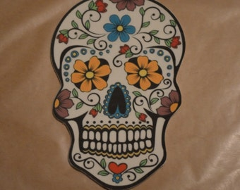 Sugar Skull Day of the Dead Fondant Cake Topper