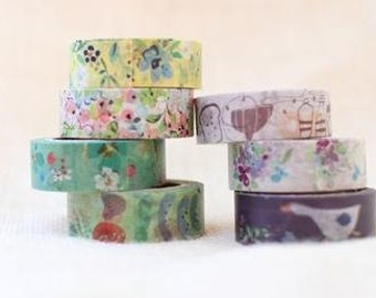 Fion Stewart  Japanese washi masking tape / 7 roll