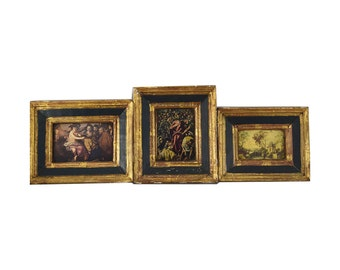 Florentine Wall Hangings - Set of Three - Made In Italy