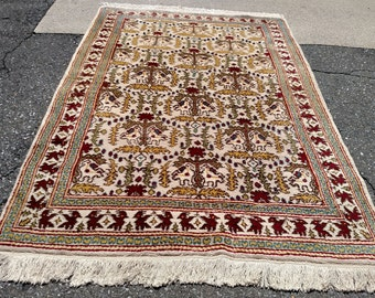 1960s Hand-Knotted Turkish Anatolian Rug (3397)