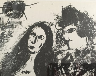 CHAGALL original lithograph, The Clown in Love, 1963 for sale by Estate ReSale & ReDesign