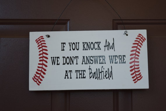 Baseball Welcome Sign Front Door