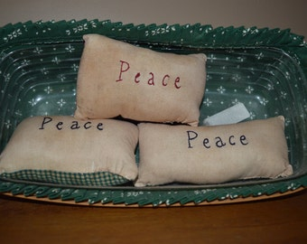 Set of 3 Peace Pillow Bowl fillers