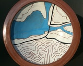 Custom Made To Order Topographic Platter
