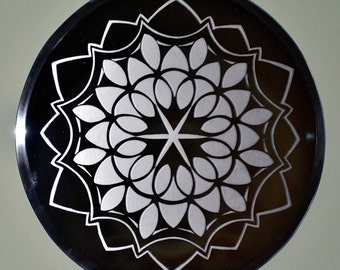 Mum Mandala Acid Etched Mirror
