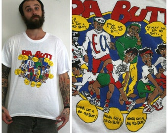 Vintage 80s EXPERIENCE UNLIMITED School Daze Doin Da Butt Shirt Retro 90s Hip Hop