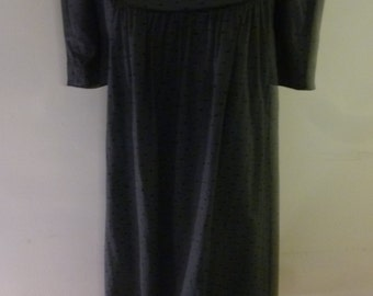 70's Maternity Dress Polka Dot Pinstripe Cotton Boho Peasant Style Office Attire Size 6 Made by Junior Maternity California  Dorothy Harris