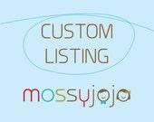 Custom listing for Preyav