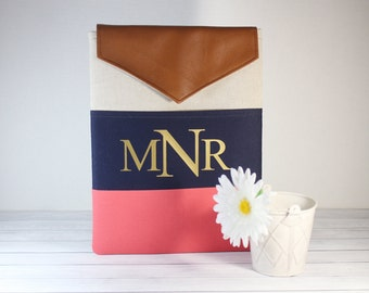 Macbook Pro Case, Personalized 13 inch MacBook Sleeve, Laptop cover, Chromebook Cover, Monogrammed Laptop Case