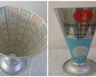 Vintage Tala Aluminium Cooks Measure - Made In England KItsch 1950s Kitchenalia