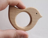 Bird-teether, natural, eco-friendly - Natural Wooden Toy - Teether - Handmade wooden teether