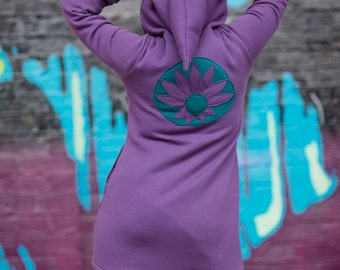 SALE**Lotus Sweater Dress - Purple - Large