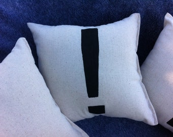 Punctuate It Pillow, Exclamation Mark