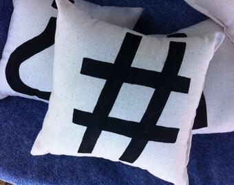 Punctuate It Pillow, Hashtag