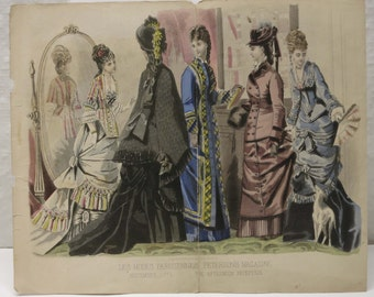 Victorian Fashion Art Print ~ Peterson's Magazine Fashion Plate ~ Great for framing! ~ November 1876