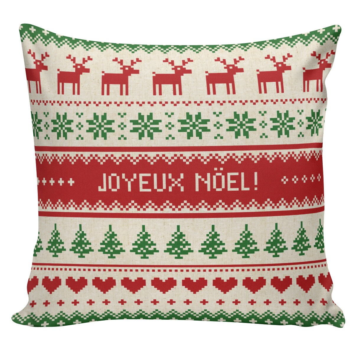 Scandinavian Christmas Pillow : Christmas Pillow Vintage Burlap Pillow Cover Scandinavian