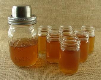 Tall Mason Jar Shot Glasses - Double Jar Shots - 6 Pieces