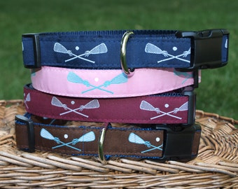 Lacrosse Collar / Lacrosse Sticks  Collar / Lax Collar / Dog Collar / Sm/ MED , MD / LG