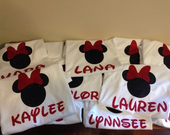 Personalized Minnie tee shirts