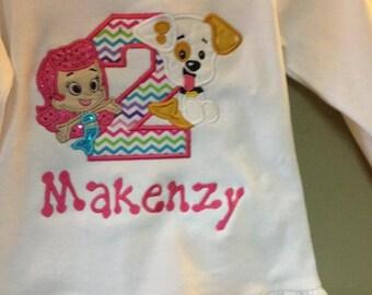 Bubble Guppies Girls Birthday Shirt