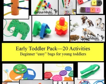 20 toddler busy bags - Educational toy and learning games