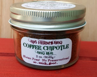 Coffee Chipotle Rub by Big Herm's BBQ, Gourmet & Hostess gifting, Smoker, fathers day, gift set, men, gluten free,