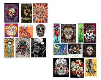 Day Of The Dead Digital Collage Set