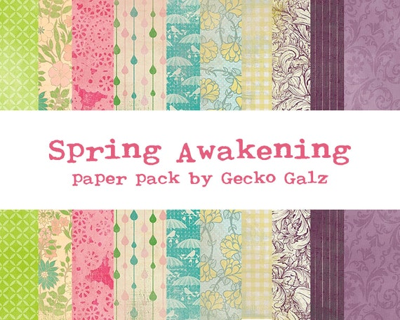 Spring Awakening Digital Paper Pack
