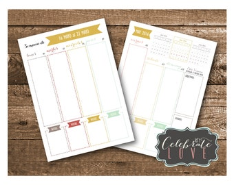 A5 Spanish 2016 Chic Weekly Planner
