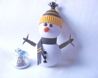 Papier quilling bonhomme de neige avec par fashionedforyouinnh - Bonhomme de neige en papier ...
