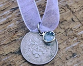 Lucky British Sixpence Wedding Bouquet Charm