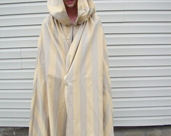 Cape Adult Costume with Hood New Wide Stripe Fabric