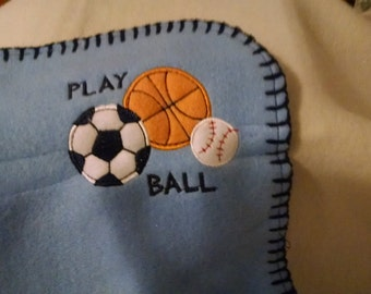 Lets Play Ball Boys Baby Blanket