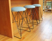 """Custom order for Leslie, 2 bar stools 30"""" sunbrella touquoise, delivery to San Clemente"""