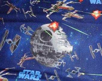68 Inches Navy Blue Star Wars Cotton Fabric