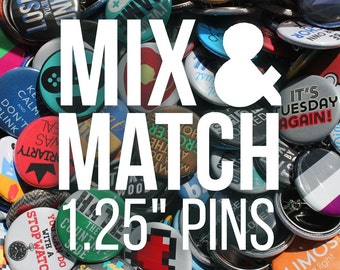 Mix & Match Any Quantity of Buttons