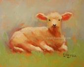 Lambkin 1...Original Oil Painting by Maresa Lilley, SND