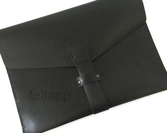 Leather Laptop Case, Sleeve for MacBook, Leather Portfolio, Document Case, Laptop Holder, Business Folio, A4 Paper Case, Leather Folio